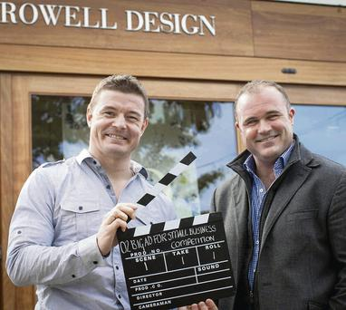 Brian O'Driscoll was pictured with Cormac Rowell outside his interiors and lifestyle furnishings shop Rowell Design in Donnybrook