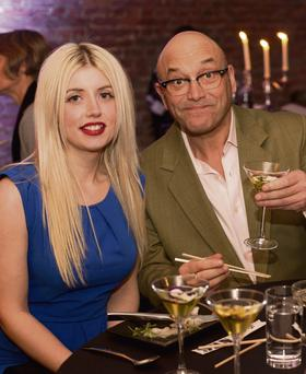 CHOP AND CHANGE: Chefs feel the heat, but not from Masterchef judge Gregg Wallace, above with girlfriend Anne-Marie Sterpini