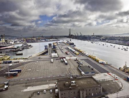 Dublin Port: central to exports trade