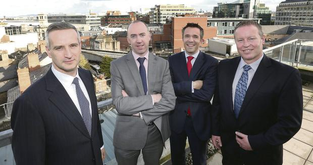 David Grindle, Chief Operating Officer, SouthWestern, Eamonn O'Kennedy of INM, Barry McAuliffe, Group Operations Finance Manager, INM, and Brian Woods, Head of Account Management, SouthWestern.