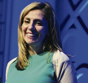 Nicola Mendelsohn, vice president for EMEA at Facebook Inc., reacts as she addresses delegates during the Dublin Web Summit