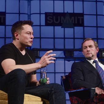 Your round: Taoiseach Enda Kenny didn't go clubbing with Elon Musk, though both men met earlier at the Web Summit