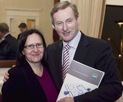 Challenges: Professor Suzi Jarvis of UCD's Innovation Academy with Taoiseach Enda Kenny