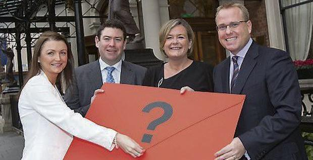 At the announcement of the finalists were, above from left, Orla Fisher, Leinster Society chairman; Shane McAleer, Published Accounts Awards vice-chairman and Deirdre Somers, CEO Irish Stock Exchange