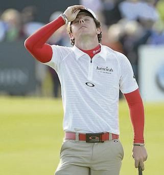 Rory McIlroy during the Irish Open Golf Championship at Royal Portrush.