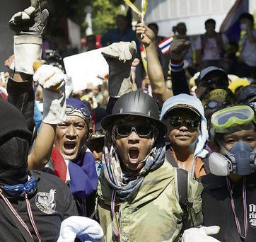 Recent protests in Thailand