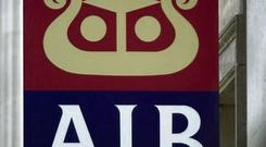 AIB Logo on a sign above a branch