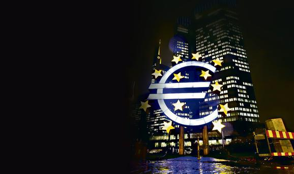 The headquarters of the European Central Bank (ECB).