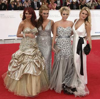 Stan-Out Sensation: From left, 'The Only Way is Essex' girls Amy Childs, Lauren Goodger, Lydia Rose Bright and Sam Faires. The maker of the show is among the potential candidates to take on a new TV3 soap. Photo: Yiu Mok, PA