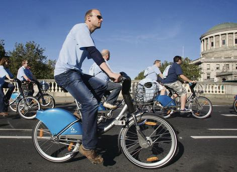 Dublin Bikes has an unusual management agreement with the French advertising company JC Decaux.
