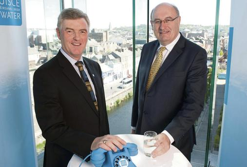 John Tierney, MD Irish Water, and with former Environment Minister Phil Hogan