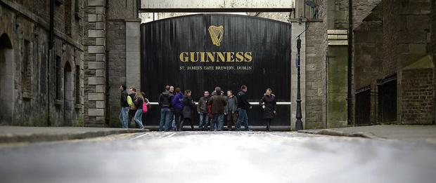The Guinness brewery at St James's Gate in Dublin.