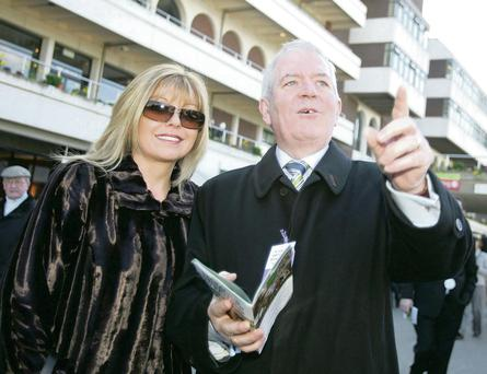 Former Finance Minister Charlie McCreevy, who cut the tax on Irish betting to 5pc in 1999, with his wife Noeleen at the Cheltenham Races. Frank McGrath