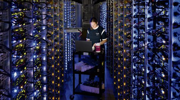 WIRED: A technician at a Google data centre in the USA
