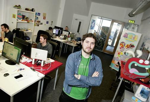 Séadna Long, founder of Six Minute, an independent game development studio based in Dublin's city centre. EL KEEGAN