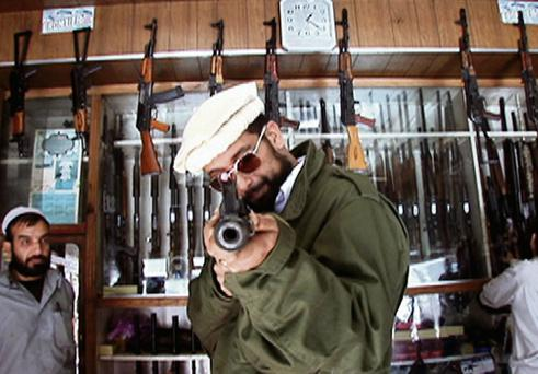 A still from an episode of MTV's 'The Vice Guide to Everything' where Suroosh Alvi heads to the boarder between Pakistan and Afghanistan to find that it has been taken over by the Taliban