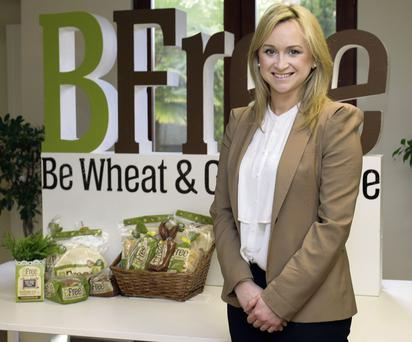 RISING TO THE CHALLENGE: Alex Murphy, managing director of BFree Foods, which has developed a range of gluten-free breads and wraps. Photo: David Conachy