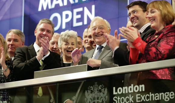 Leaders of Irish and UK business opened trading in London yesterday.