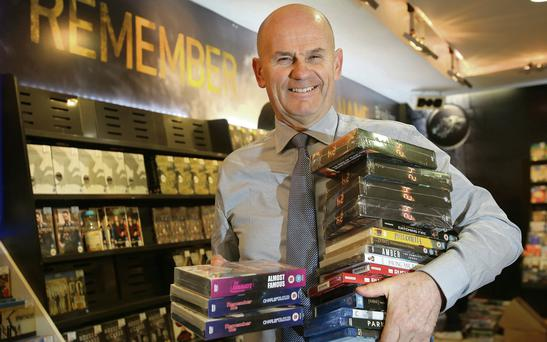 HMV and Xtra-Vision MD Gerry Butler pictured at the Latest HMV store on Dublin's Grafton Street. Photo: Frank McGrath