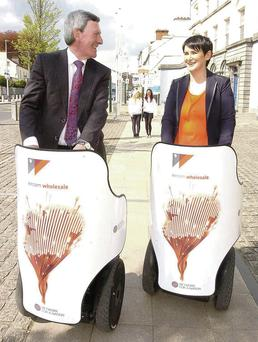 Carolan Lennon, managing director, Eircom wholesale; and Padraig McManus, chairman, Eircom group