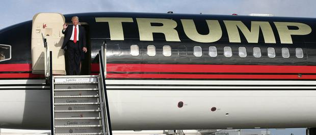 TOUCHDOWN: Donald Trump arrives at Shannon Airport in his private Boeing 757 jet