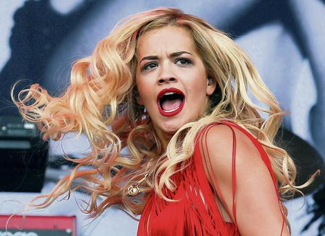 Rita Ora who featured in heavy advertising by M&S.