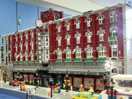 BRICKS, BUT NO MORTAR: A Lego model of Arnotts built by hobbyist David Fennell