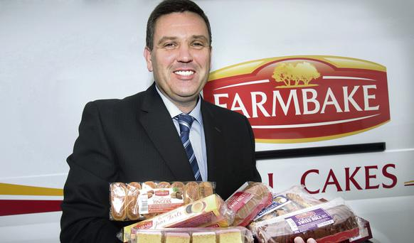 Tasty Profits: Alan Divney of Farmbake with some of his delicious products. Photo: Tony Gavin