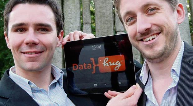 From left, Ray Smith and Connor Murphy of Datahug. Photo: Conor Healy