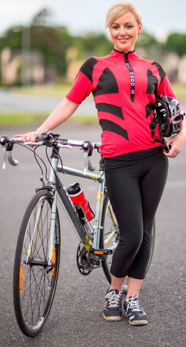 Pedal Power: Cyclist Samantha McCarthy could save €18 with the right insurance. Photo: Eamon Ward.