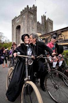 Catriona Bourke, Clonlara and Martin Donnellan, Milltown ,Co Galway at the High Nellie weekend at Bunratty, Co Clare