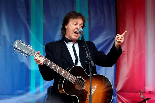 Hilco invited Paul McCartney to perform in the store.