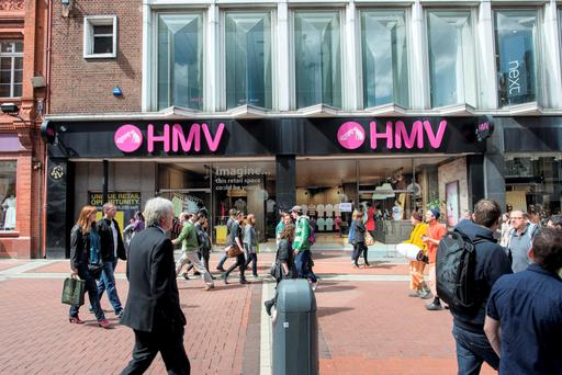 The HMV shop on Grafton Street