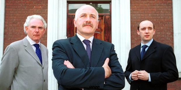 INVESTORS HAVE BEEN WIPED OUT: From left, Custom House Capital director John Mulholland, CEO Harry Cassidy and investment director John Whyte