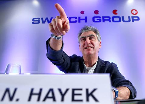 Swatch Group Chief Executive Nick Hayek Jr