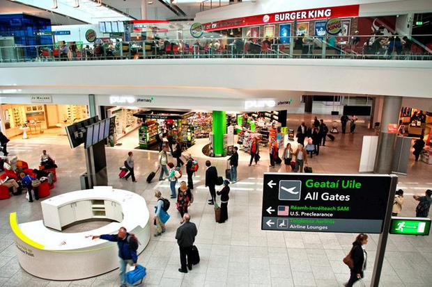 The food court in Terminal 2 at Dublin Airport