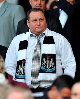 Newcastle United owner and Sports Direct founder Mike Ashley