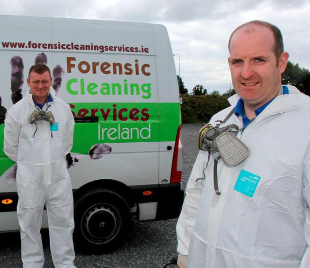 Forensic firm cleans up from grisly crime scenes