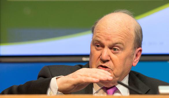 Finance Minister Michael Noonan: expressed confidence in the banking industry.