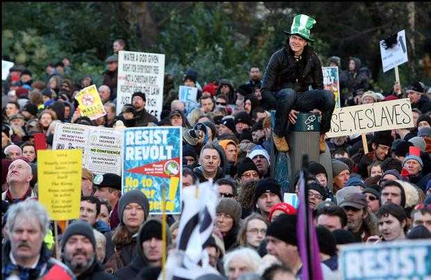 There were huge protests against Irish Water