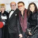 Paul McGuinness and wife Kathy Gilfillan pictured with Bono and his other half Ali Hewson