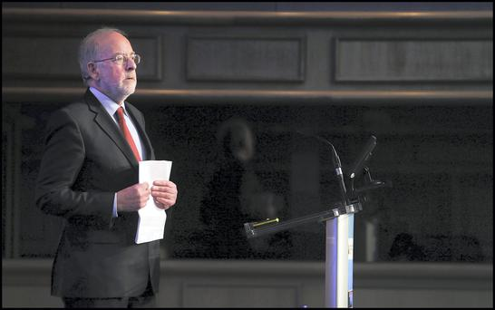 Outgoing Central Bank governor Patrick Honohan
