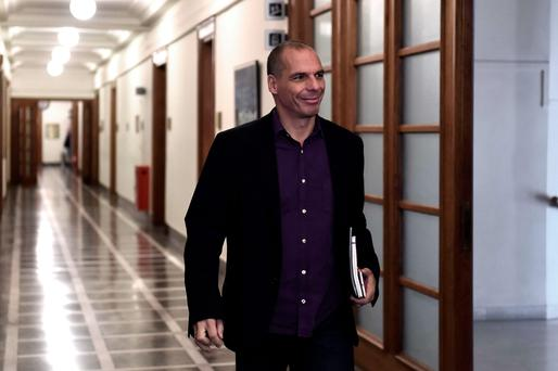 Greek Finance Minister Yanis Varoufakis arrives for a ministerial meeting at the parliament in Athens. Getty Images