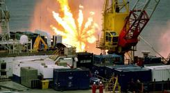 Oil announcement boosts shares...Undated handout photo issued by Providence Resources of the GSF Arctic III rig which was used in drilling at Barryroe, as Providence Resources said up to 1.6 billion barrels of oil have been uncovered in Barryroe, 50km from