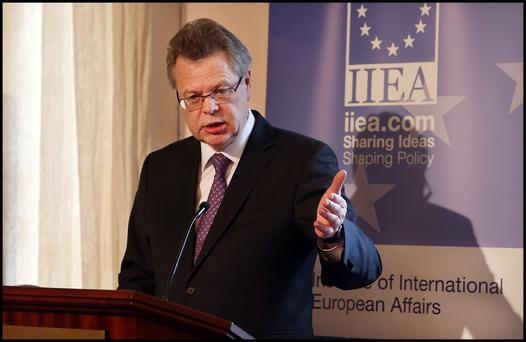 Governor of the Central Bank of Iceland Már Guómundsson addressing 'Icelands Crisis and Recovery:facts, comparisons, and the lessons learned' at the Institute of International and European Affairs (IIEA) on North Great Georges Street.