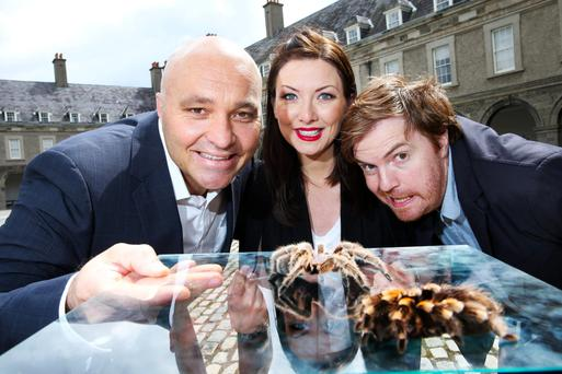 Pictured at the 2015 eircom Spider Awards were (l to r) Gary Disley, Marketing Director eircom Business Solutions, Jennifer Maguire and Bernard O'Shea.
