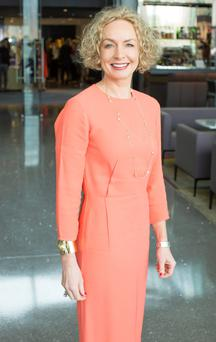 Vodafone chief executive officer Anne O'Leary at the IMAGE Networking Breakfast. Photo: Anthony Woods