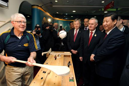 John Torpey demonstrated Irish sporting prowess as GAA president Christy Cooney hosted Chinese President Xi Jinping at Croke Park three years ago