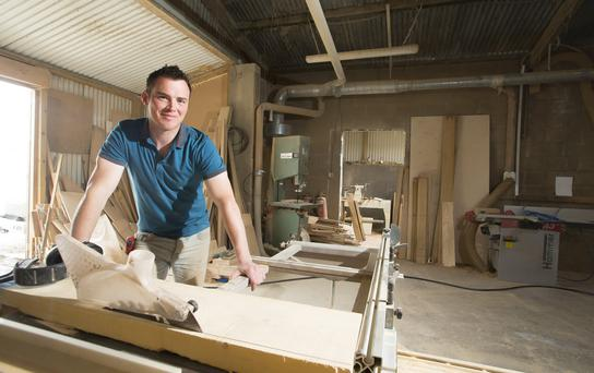 Shane Tubrid of Furniture by Design at his workshop in Fethard, Co Wexford. He's seen business double this year. Photo: Patrick Browne