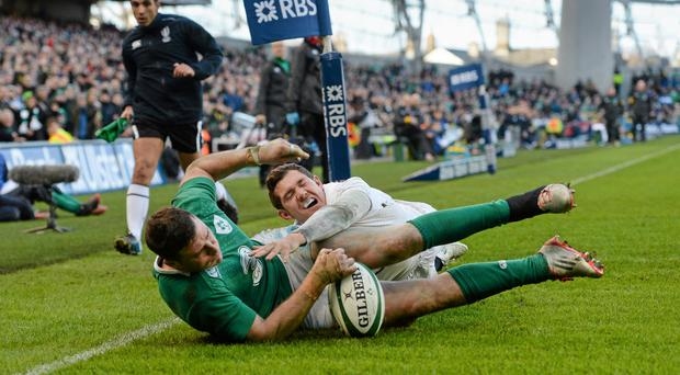 Robbie Henshaw scored the decisive try when the side's met in the Six Nations earlier this year